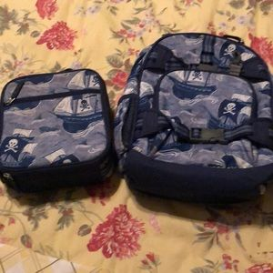 EUC Pottery Barn Kids backpack and lunchbox set